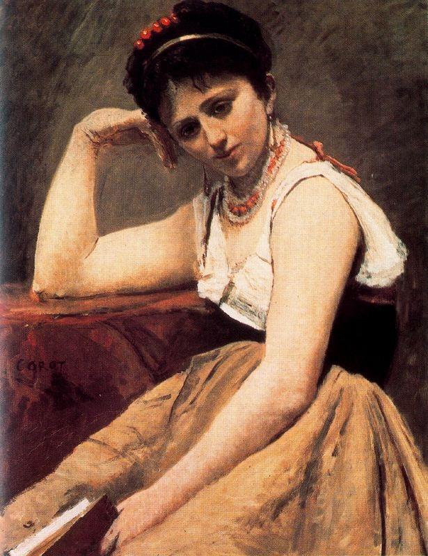 La lectura interrompuda (Jean-Baptiste Camille Corot)