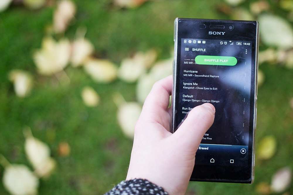 spotify on phone