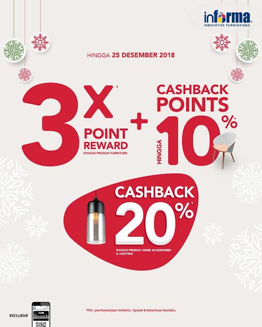 #Informa - Proo 3X Poir Reward + Cashback Point s.d 10% & Cashback 20%