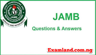 Question and answers on JAMB NOVEL
