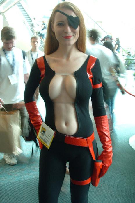 sexy girl in costume having sex