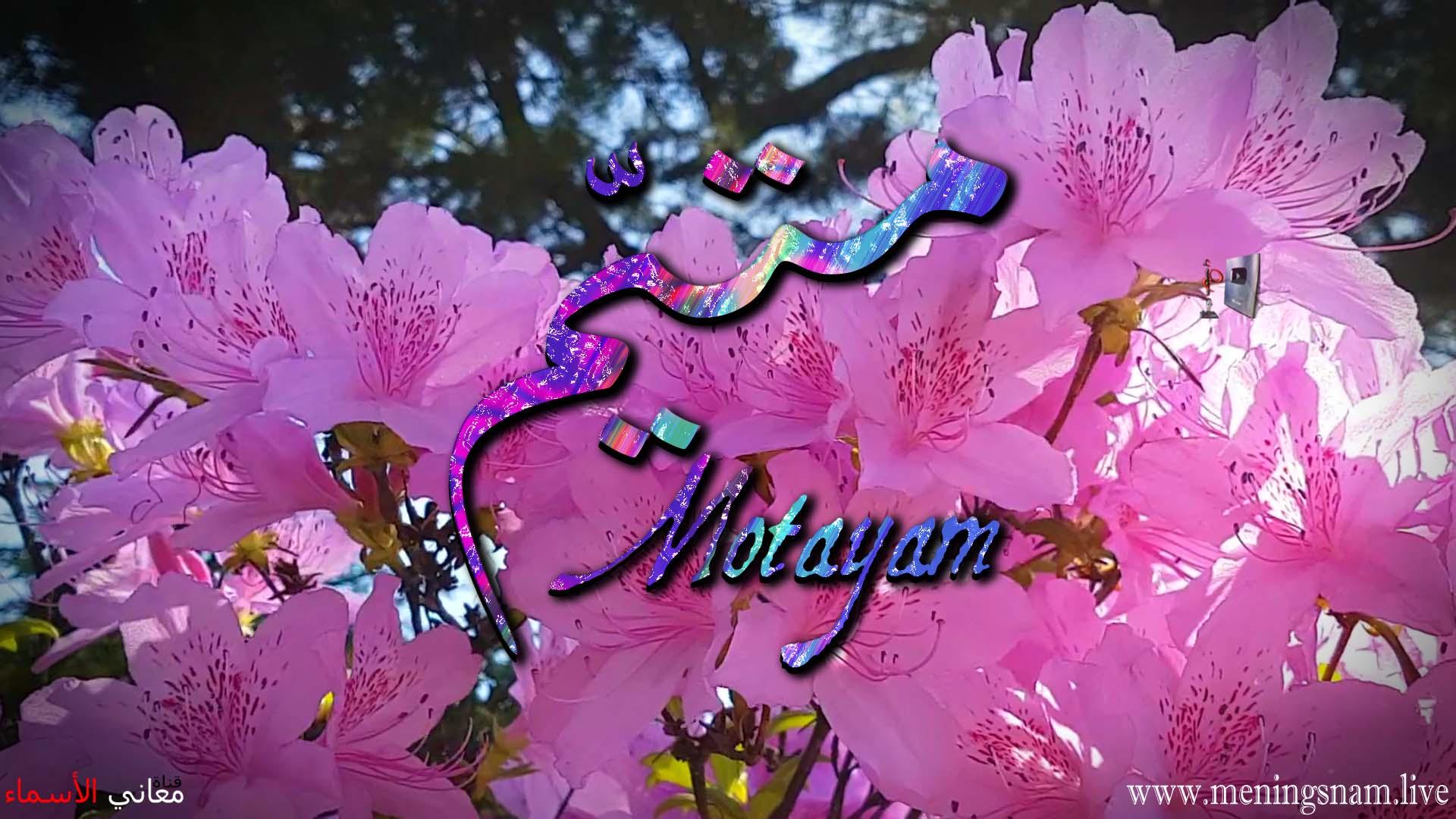معنى اسم متيم وصفات حامل هذا الاسم Motayam