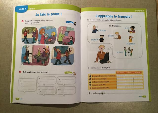 """Recenzje #190 - """"Tip top ! 1"""" - strony z powtórką i portfolio z zeszytu ćwiczeń - Francuski przy kawie"""