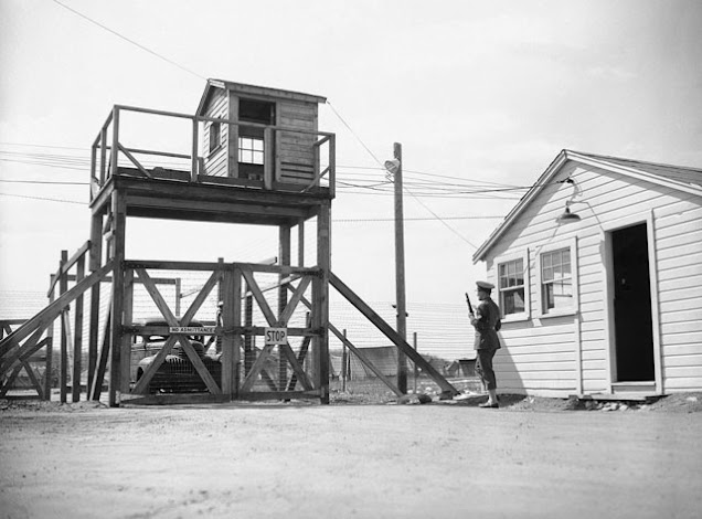 Internment camp at Fort Devons, Ayer, MA,, photo taken on 31 March 1942 worldwartwo.filminspector.com