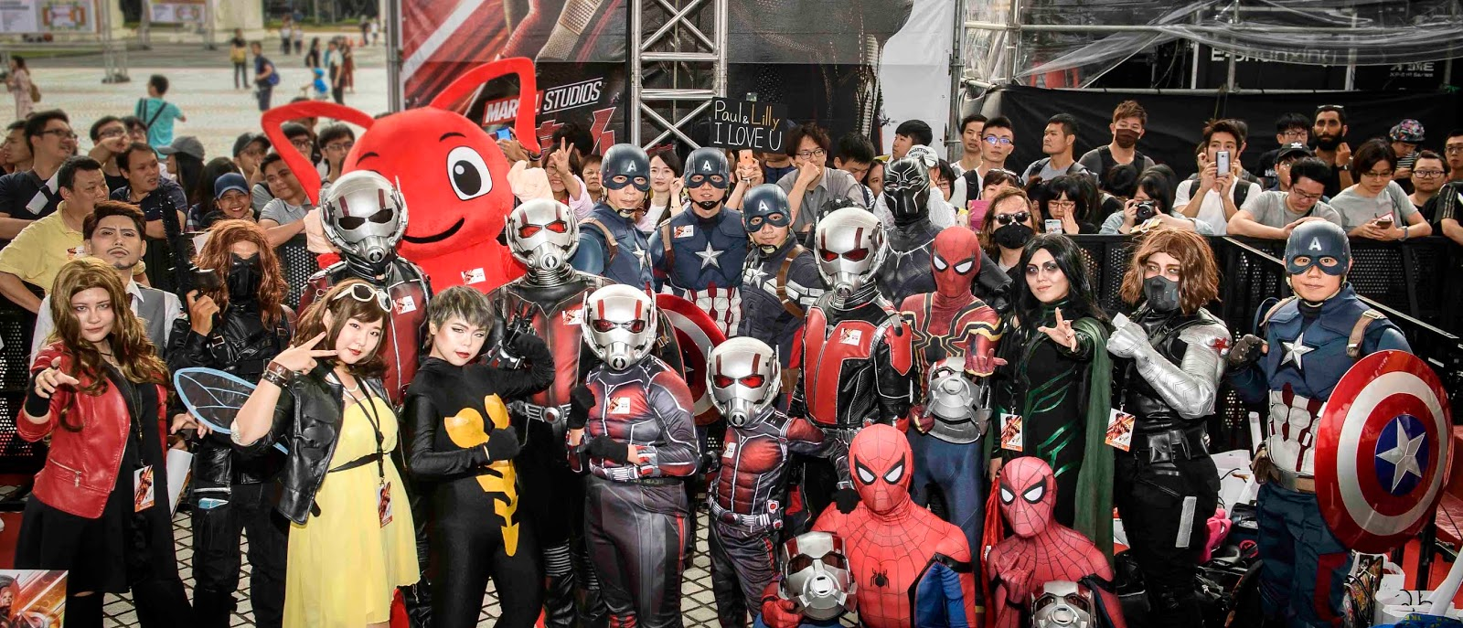 "Sasaki Time: ""ANT-MAN AND THE WASP"" TAIWAN RED CARPET FAN"