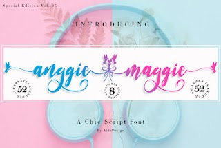Anggie And Maggie Script Font