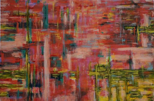 Oana-Singa-Art-Landscape-with-Blazing-Fire-acrylic-on-canvas