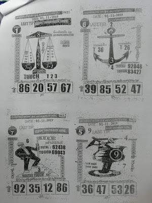 Thai Lottery 3up Thai Lotto Free Tips Paper Magazine 01 November 2019
