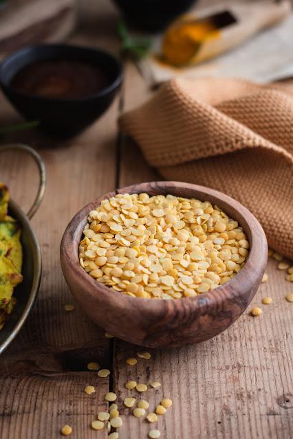 Crêpes aux lentilles jaunes et épinards, palak moong dal chilla