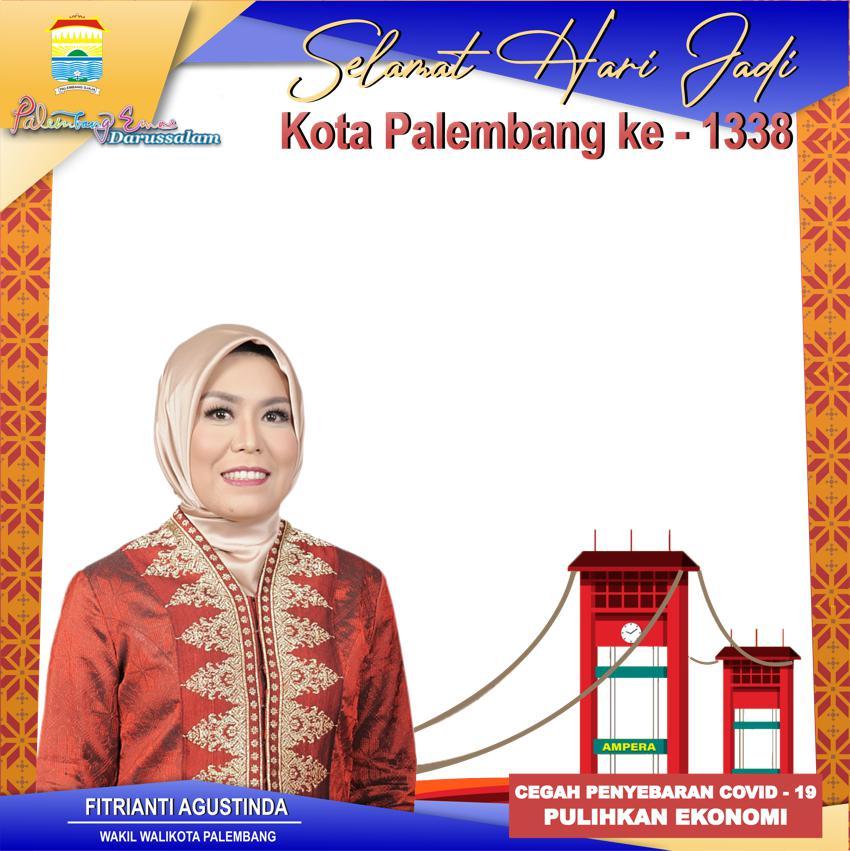 Desain Keren Bingkai Twibbon Peringatan Hari Jadi ke-1338 Kota Palembang 2021 - Wakil Walikota Palembang