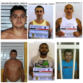Sete Presos fogem na madrugada da cadeia pública da cidade de Picuí