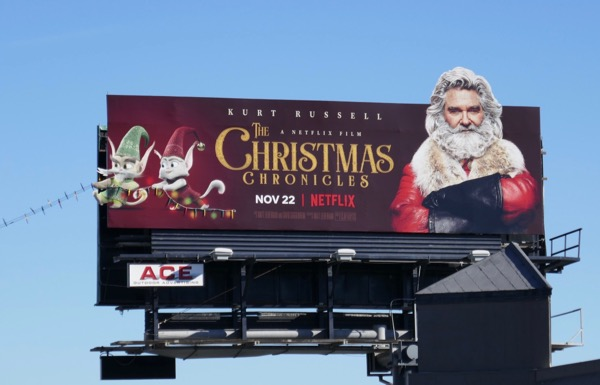 Christmas Chronicles string lights billboard