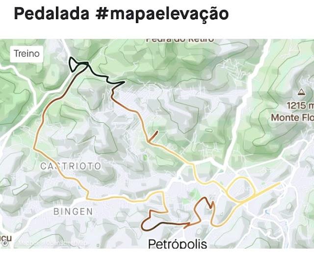 Mapa de percurso no Strava