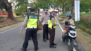 Hari Kedua Satlantas Polres Bangka Barat menilang Sebanyak 29 Berkas Dalam Operasi Patuh Menumbing 2020