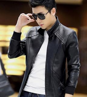 Gambar Jaket Kulit Korea Pria Terbaru
