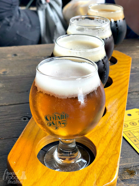 If you are looking for a brewery & bar with a great outdoor space, then Seventh Son Brewing in the Italian Village of Columbus, Ohio is the place for you. They have four flagship beers on tap as well as a nice selection of monthly & seasonal beers.