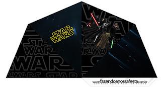 Conos= Cucuruchos para Imprimir Gratis de Star Wars.