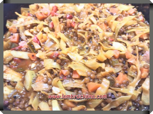 lentejas con verduras. www.lambruchona.com
