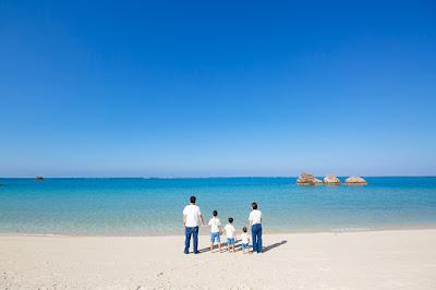 沖縄 家族写真 海 ロケーションフォト