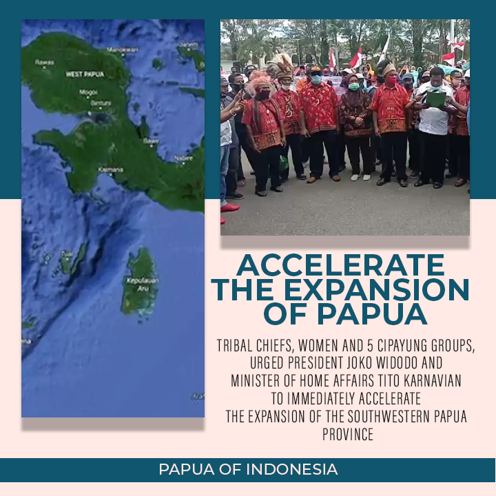 Urge the President to Accelerate the Expansion of Papua