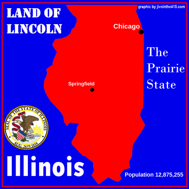 Map of the state of Illinois by jiveinthe415.com