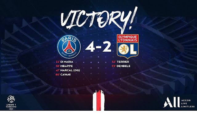 Paris Saint-Germain 4-2 Lyon, Mbappe And Cavani On Target For PSG (Video Highlight)