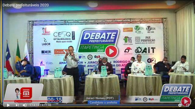 Em debate, opositores atacam prefeito Hagge e Paulo da Geladeira é a piada