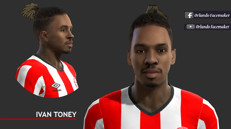 Ivan Toney Face For PES 2013