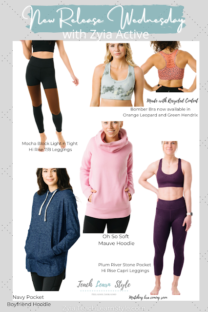 zyia active new release wednesday, zyia activewear, shop zyia active, zyia active rep