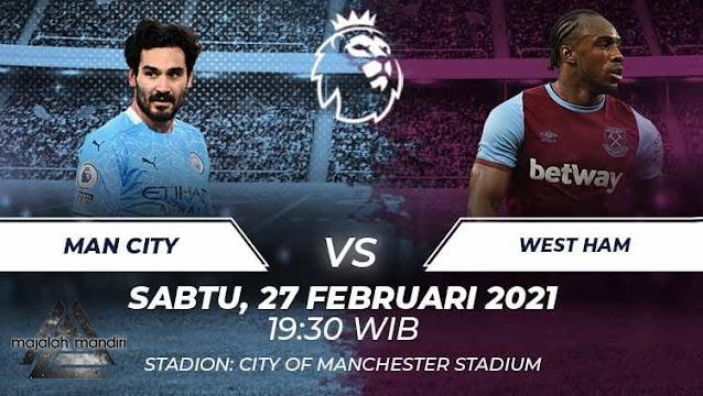 Prediksi Manchester City Vs West Ham United