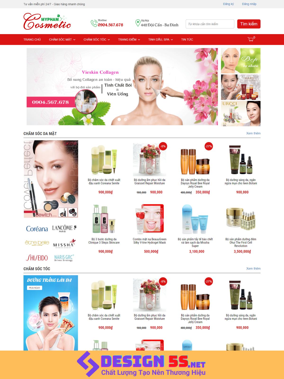 Template Blogspot Mỹ phẩm Cosmetic Miễn Phí