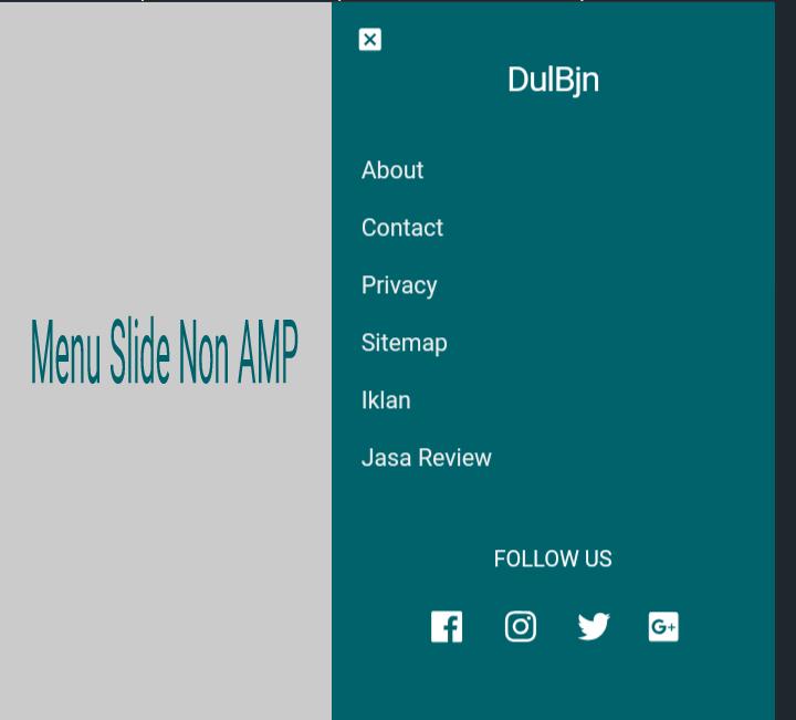 Cara Membuat Menu Slide AMP Sidebar Untuk Blogger Non AMP Terbaru