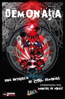 Portada de la antología de relatos de fantasía Demonalia