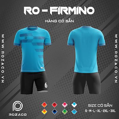 Áo Không Logo Rozaco RO-FIMINO Màu Xanh Ya