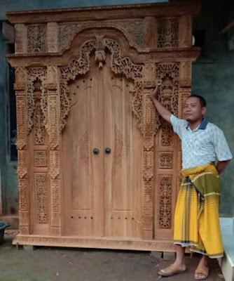 pintu gebyok minimalis