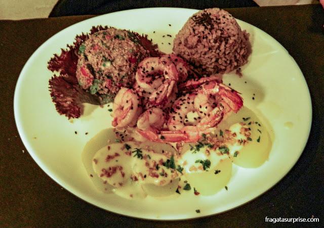 Restaurante Capitão Lima, Recife: camarões com tabule