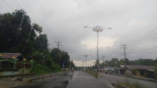 betapa sepinya jalanan di belitung padahal jalan utama