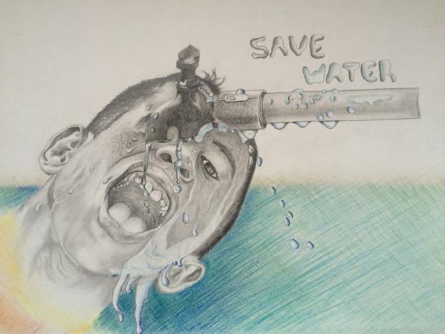 Save Water Drawings