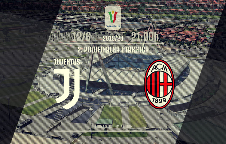 Coppa Italia 2019/20 / 1/2 finala / Juve - Milan, petak, 21:00h