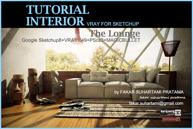 tutorial vray for sketchup  how to make long sofa