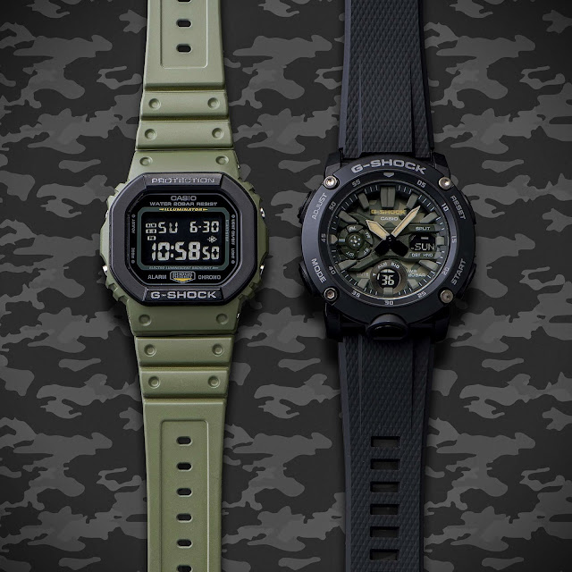 Casio G-SHOCK Debuts Street Utility Military Series With Updated Layered Bezel Structure