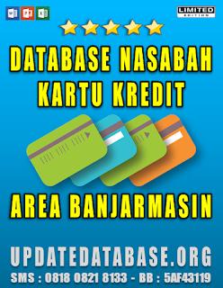 Jual Database Nasabah Kartu Kredit Banjarmasin
