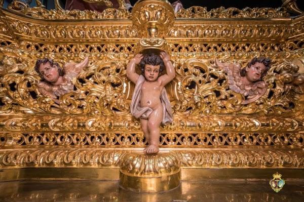 Manolo Verdugo restaura el paso de misterio de la Esperanza de Triana