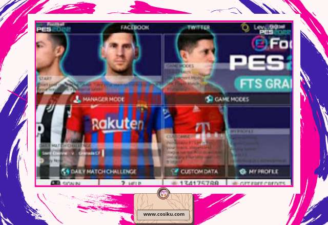FTS MOD PES 2022 Apk Data + OBB UPDATE New Transfer & Jersey 2021-2022