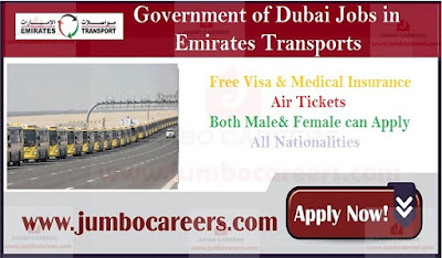 Massive Job Recruitment at Emirates Transport Corporation by Dubai Government
