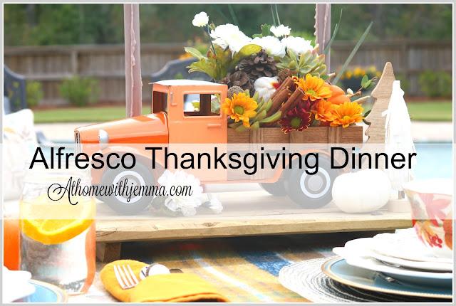 centerpiece, Thanksgiving, outdoor, vintage, truck, athomewithjemma.com