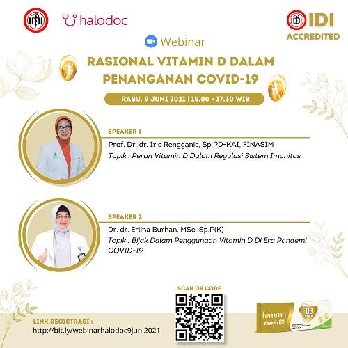 (GRATIS SKP IDI) Webinar *Rasional Vitamin D Dalam Penanganan COVID-19*