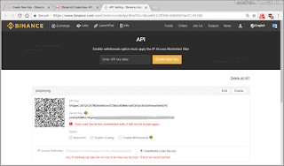 Binance API Keys Generated