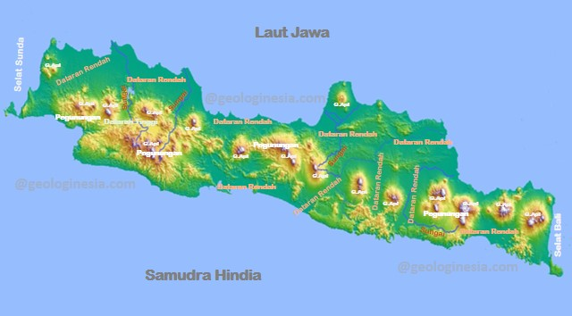 kondisi geografis pulau jawa berdasarkan peta