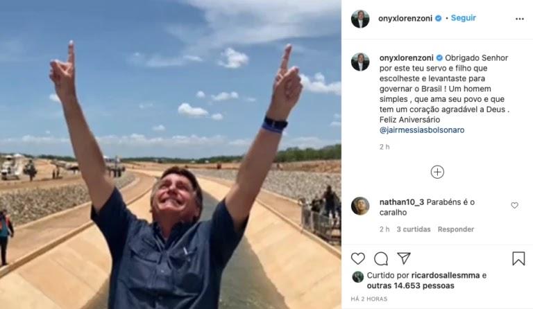 Screenshot 2021 03 21T091731.585 768x446 - Bolsonaro completa 66 anos e é homenageado por multidão de patriotas que canta parabéns em frente ao planalto; VEJA VÍDEO